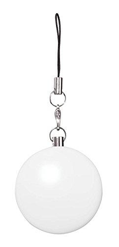 Wedo 205260200 LED Handtaschenlicht rund, mit Infrarotsensor, automatisches An & Aus, Clip, Ø 4 x 2,5 cm, inklusiv Batterien, weiß