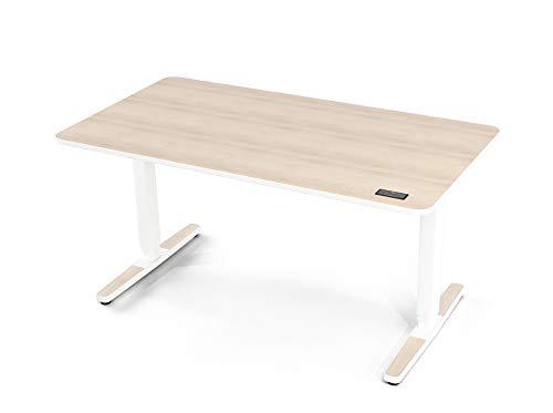 Yaasa Desk Pro II, elektrisch höhenverstellbarer Schreibtisch, Sitz-Steh Bürotisch mit Memory-Funktion, Tastensperre, Anti-Kollisions-Sensor, leiser und schneller Höhenverstellung, Akazie, 140x75cm