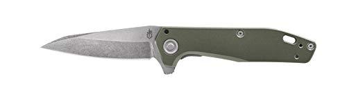 Gerber Taschenklappmesser, Klingenlänge: 7,62 cm, Fastball Finger Flip Knife, Edelstahl, Grün, 30-001716