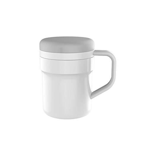 Zelf roeren koffiemok Automatisch mengen RVS Cup - om uw koffie, thee, warme chocolade, melk etc roeren voor Office School Gym Home Kleur: wit