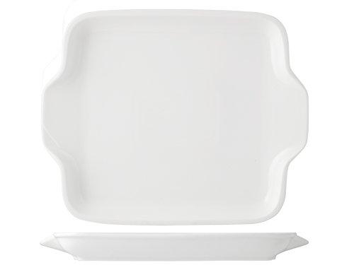 HOTELWARE Assiette, 30,5 x 25 cm, Porcelaine, Blanc