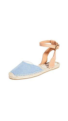 Soludos Alix Klassische Damen-Sandalen, Blau (hellblau), 40 EU