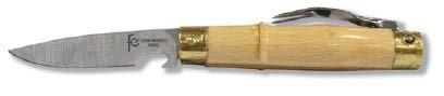Flores Cortés Messer mit Griff aus Buchenholz und Gabel 70mm