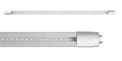 Vetrineinrete® Neon led smd attacco t8 g13 28 watt luce bianca fredda 6500k 265v tubo 150 cm alta luminosità trasparente P49