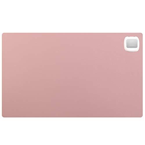LJUSSD Warm Tischmatte Siesta Heizung Gaming Mouse Pad, Office Desktop-Handwärmer Mauspad ultradünne PU-Leder, wasserfestes Leder (24x 14 Zoll) Pink