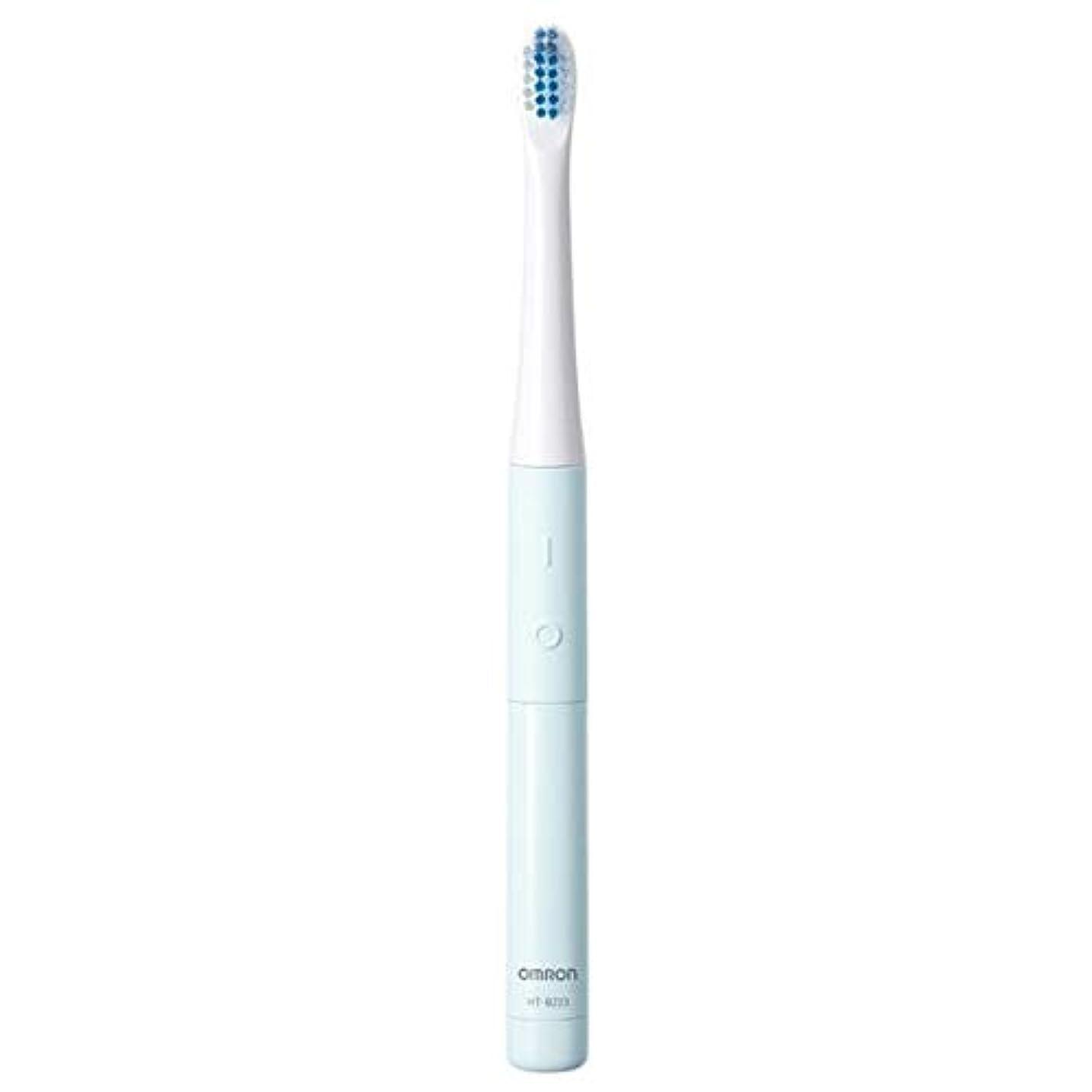 気体の願う姿を消すオムロン 電動歯ブラシ(ブルー)OMRON 音波式 HT-B223-B