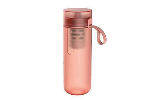 Phillips - Botella Filtro de Agua Go Zero Active, Modelo Fitness, Elimina el cloro y mejora el sabor, Libre de BPA, 600 ml, Rosa (AWP2712RDR)