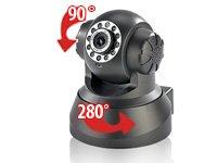7links Pan-Tilt-IP-Kamera LAN/WLAN mit IR-LEDs & Bewegungserkennung