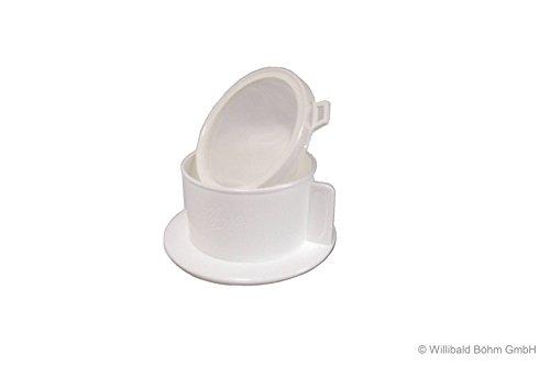 Tassenaufsatz mit Filterbeutel 1-2 Tassen, weiß, Sonja-PLASTIC, Made in Germany