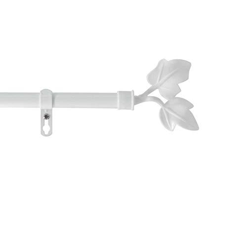 marque Douceur d'intérieur Kit Tringle Extensible 120 à 210 cm Peint Lierre Blanc