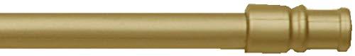 Cafehausstange, Gardinenstange von 50 bis 225 cm Breite, ausziehbar, in vielen Farben, für z.B. Bistro- oder Scheibengardinen, Auswahl: Gold - Messing, 75-125 cm