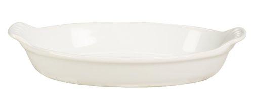 Le Creuset Stoneware Heritage Oval Au Gratin, 6 oz. (6.5'), White