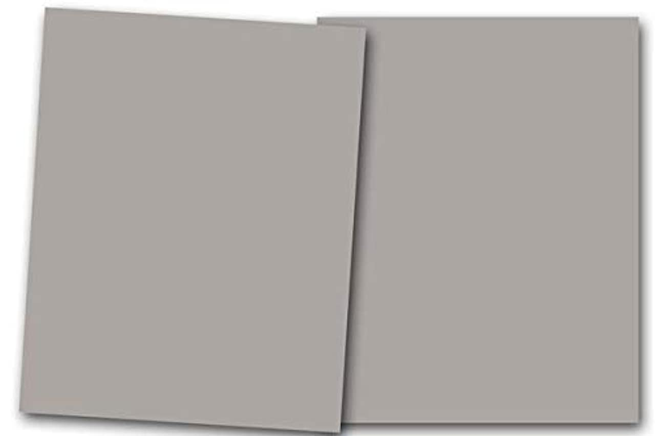 Premium Smooth Matte Pewter Gray Card Stock 20 Sheets - 80 lb. Cover - Great for Scrapbooking, Crafts, Flat Cards, Folded Cards, Weddings, Events, Showers,DIY Projects, Etc. (8.5 x 11)