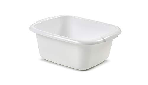 Whitefurze Rectangular Washing Up Bowl Wash Up Dish washing Washtub, White, 9 Litre, 36 x 29 x 15cm