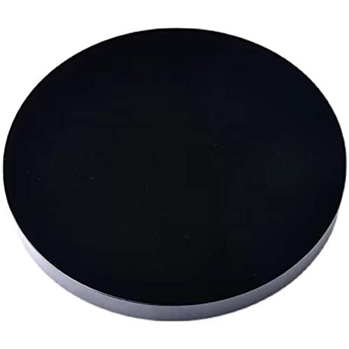 LVYAN 1 Uds, Piedra de obsidiana Negra Natural, Disco Circular, Placa Redonda, Espejo Fengshui para decoración del hogar y la Oficina
