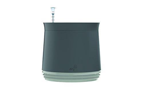 AIRY Pot - Luftreiniger Blumentopf für Allergiker - Patentierter Pflanzen-Topf als natürlicher Raumluftfilter gegen Schadstoffe, Haus-Staub, Pollen, Geruch (Weiß, Gen. 1)