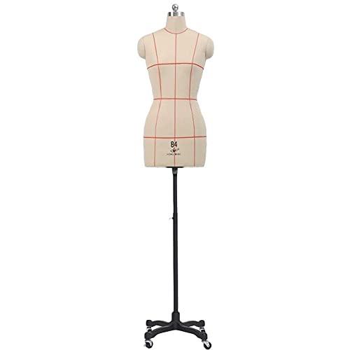 DSDD Vestido de Costura Blanco con Forma de maniquí Ajustable, modista pinnable Confección de Prendas de Vestir Vestidos Forma de Vestido, maniquí de Sastre con Ruedas (Color: Negro, Talla: XL -
