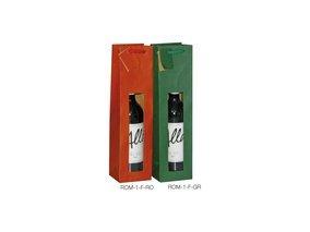 Preisvergleich Produktbild 1 Verpackungseinheit (20 Stück) Flaschentaschen mit Sichtfenster1er,  rot98 mm x 88 mm x 380 mm