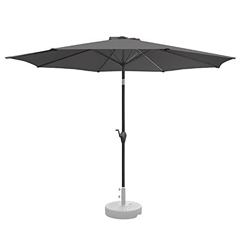 RANSENERS Sonnenschirm Marktschirm Gartenschirm, 300cm Ø, Kippbar, Gestell Aluminium/Stahl, Bespannung 100% Polyester mit UV-Schutz