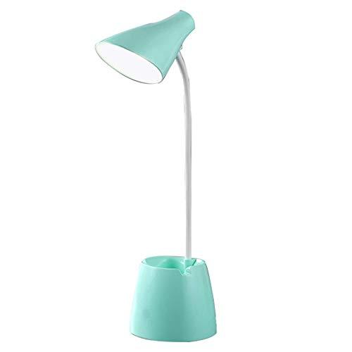 Lámpara de Mesa, lámpara de Escritorio LED, lámparas de Mesa Que cuidan la Vista, lámpara de Lectura de Libros de Cuello Flexible, Anillo de luz, 3 Brillos y Colores Ajustables, Recargable por USB
