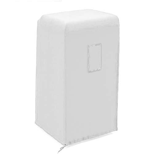 Luxiv tragbare Klimaanlage Abdeckung, grau tragbare AC Einheit Abdeckung 15 x 18 x 30 Anti-Staub tragbare Klimaanlage Aufbewahrungsbeutel Schutz Abdeckung für mobile AC (weiß)