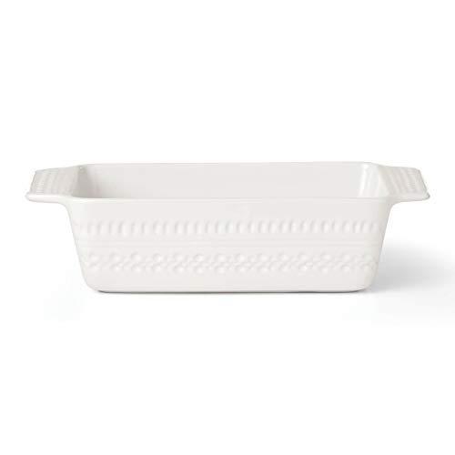 KATE SPADE Willow Drive Cream Loaf Pan, 2.55 LB, White