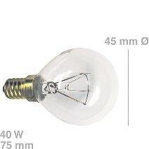 Unbekannt Lampe(BO/KG.) E14, 40W, Kugelform, passend zu Geräten von:ACEC AEG Alno-Küche.
