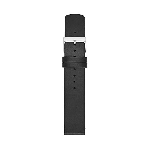 Skagen Men's 22mm Leather Casual Watch Strap, Color: Black (Model: SKB6060)