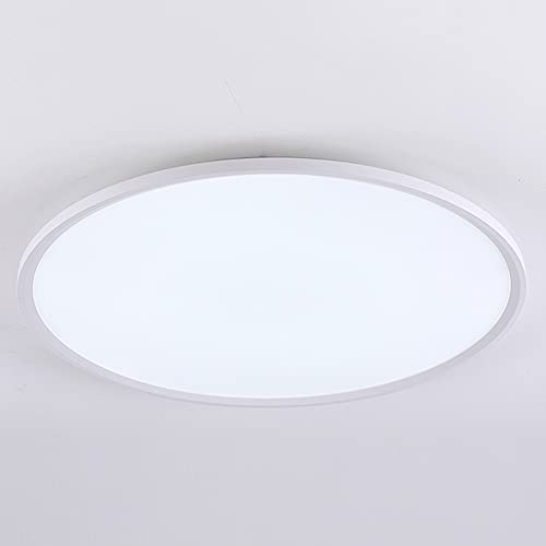 Lámpara de techo minimalista nórdica moderna con ajuste de luz LED de tres colores de instalación empotrada, adecuada para sala de estar, sala de estudio, dormitorio, comedor, balcón, ultradelgada de