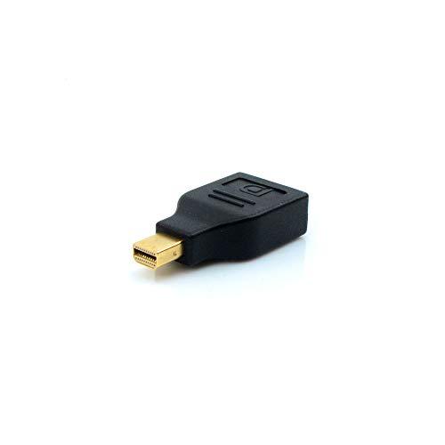 Adaptador DisplayPort Fêmea para Mini DisplayPort Macho PlusCable Preto ADP-201BK - Conector banhado à ouro, DisplayPort 1.4