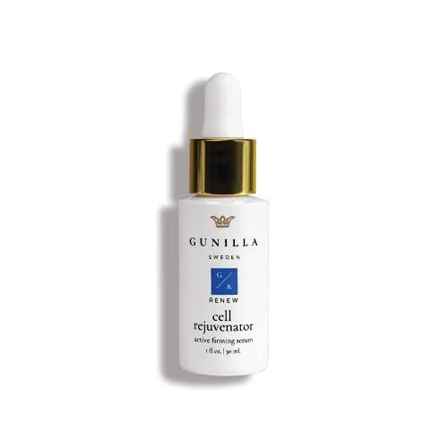GUNILLA Cell Rejuvenator Active Serum | Versatile, Hydrates, Anti-Aging, Plumps, Nourishes, Heals | 68% Organic Aloe, Collagen, Elastin, Revitalin, Keratin, Vit-C, Ginseng-Spa Grade (1oz 60-Day)