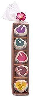 Angel's Pride 5 Mini-Duftkerzen, Herzform, Keramik-Kerzenhalter, Geschenkset für Sommerparty, Weihnachten, Geburtstag, Jahrestag oder Valentinstag