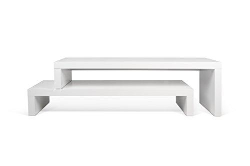 TemaHome, Cliff, Mobile Porta TV, Bianco Opaco, 125 x 38 x 22 cm