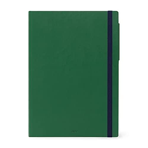 Legami - Agenda semanal Maxi de 12 meses de 2022, British Green.