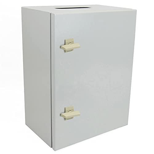 BeMatik - Caja de distribución eléctrica metálica con protección IP65 para fijación a Pared 600x500x200mm