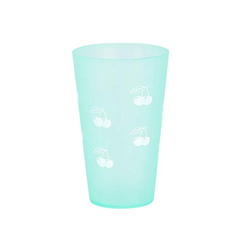 Kalaokei Flare Candy - Vaso de plástico multifuncional para agua de plástico con cepillo de dientes para lavar el agua, taza de té o bebida, accesorio de baño verde