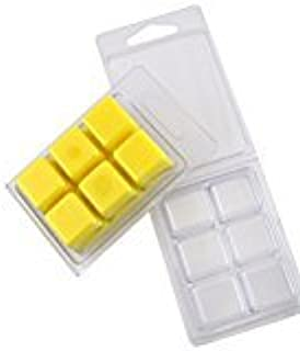 New and Improved Easy to Reopen,and Coo Candles 6 Cavity Clamshell Molds for Wickless Wax Melt Candles Packed Loose 25