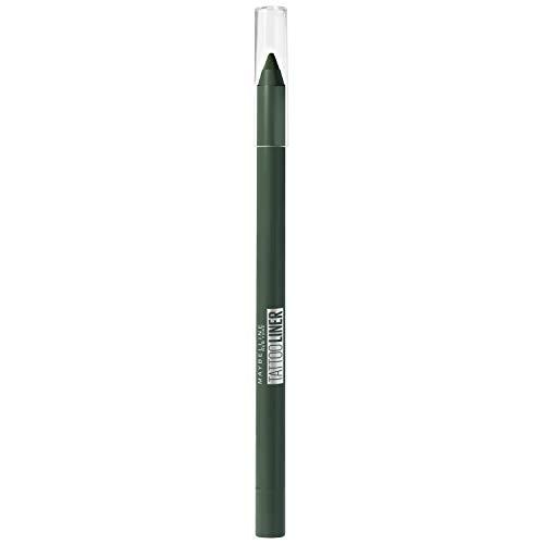 Maybelline New-York – Crayon Gel Effet Tatouage Yeux – Waterproof avec Tenue Extrême jusqu'à 36h – Tattoo Liner – 932 Intense Green (Vert Intense)