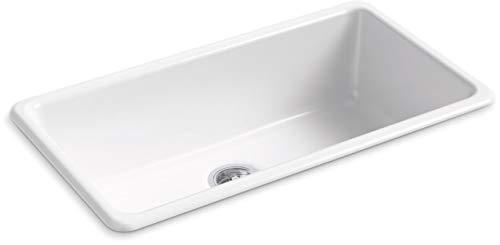 KOHLER 5707-0 Iron/Tones Kitchen Sink, White