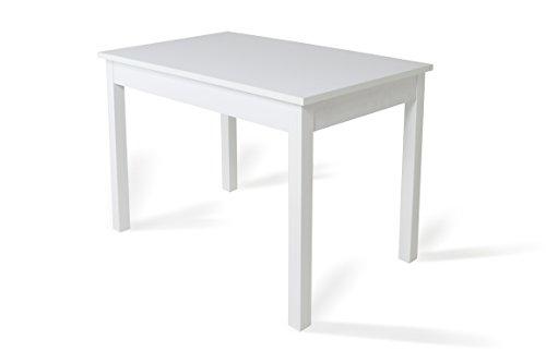 TrendyItalia 12238 Tavolo Allungabile, Legno, Larice Bianco, 80x76x120/160 cm