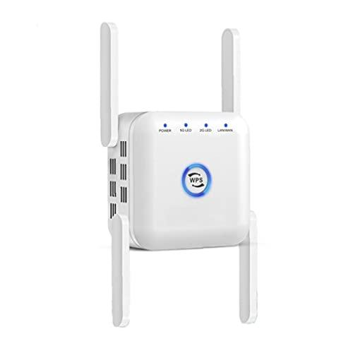 Wifi Booster Range Extender 5GHz 2.4GHz DUAL BANDO DUAL REPETRATOR DE SEÑAL INALÁMBRICA BLANCO, Tapón de la UE, Herramienta de conversión