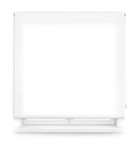 Blindecor Ara Estor Enrollable translúcido Liso, Blanco Optico, 160 X 175 cm
