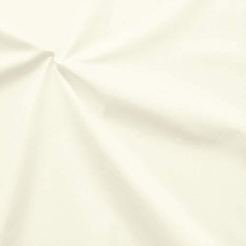 STOFFKONTOR 100{c363abea6778f60d3ec4ab8a20accda121316aeb3cbb4c7ec0206f35285ac344} Baumwolle Inlett Einschütte \'sanforisiert\' Farbe Creme-Weiss
