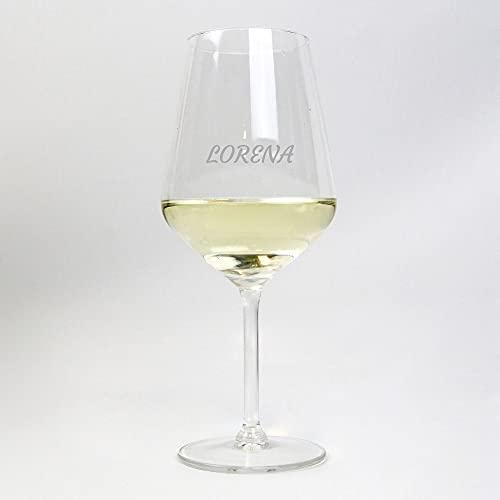 Copa de Vino Blanco Personalizada de 53 cl con Nombre o Texto Personalizado · Original ideal para amigos y familiares