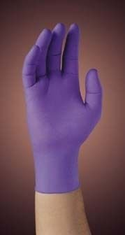 Kimberly-Clark Professional 50604 PURPLE NITRILE-XTRA Exam Gloves, Beaded Cuff, Lined, X-Large, Purple