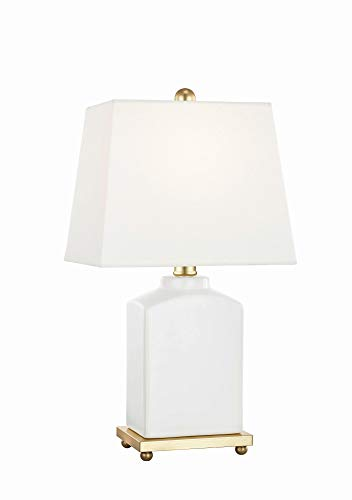 hp table lamps Mitzi HL268201-CL Brynn Table Lamp, 1-Light 60 Watts, Cloud