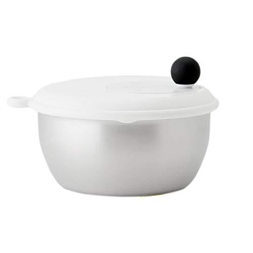 KEYUCA (ケユカ) フォーウェイ・サラダスピナーII (取り外し可能/ボウル ザル付き) 野菜水切り 大きめサイズ 日本製 食洗機対応