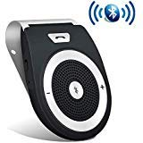 Aigital Bluetooth Hands Free Car Speaker Wireless in-Car Speakerphone Kits AUTO Power ON Music Player, Safe Driving for Handsfree Calling and GPS Navigation, with Free Car Charger