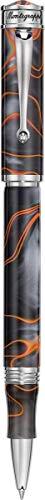 MONTEGRAPPA Collezione Capsule DUCALE MURANO Penna Roller, Tramonto Veneziano (Grigio & Arancio). Ispirata e Dedicata a VENEZIA Isole e Arte di Murano
