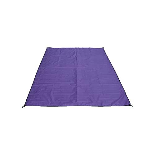 ZWL Toldo Impermeable, Camping Lona de Suelo Refugio Sombrilla Estera para Senderismo Tienda de Campaña Picnic al Aire Libre,Púrpura